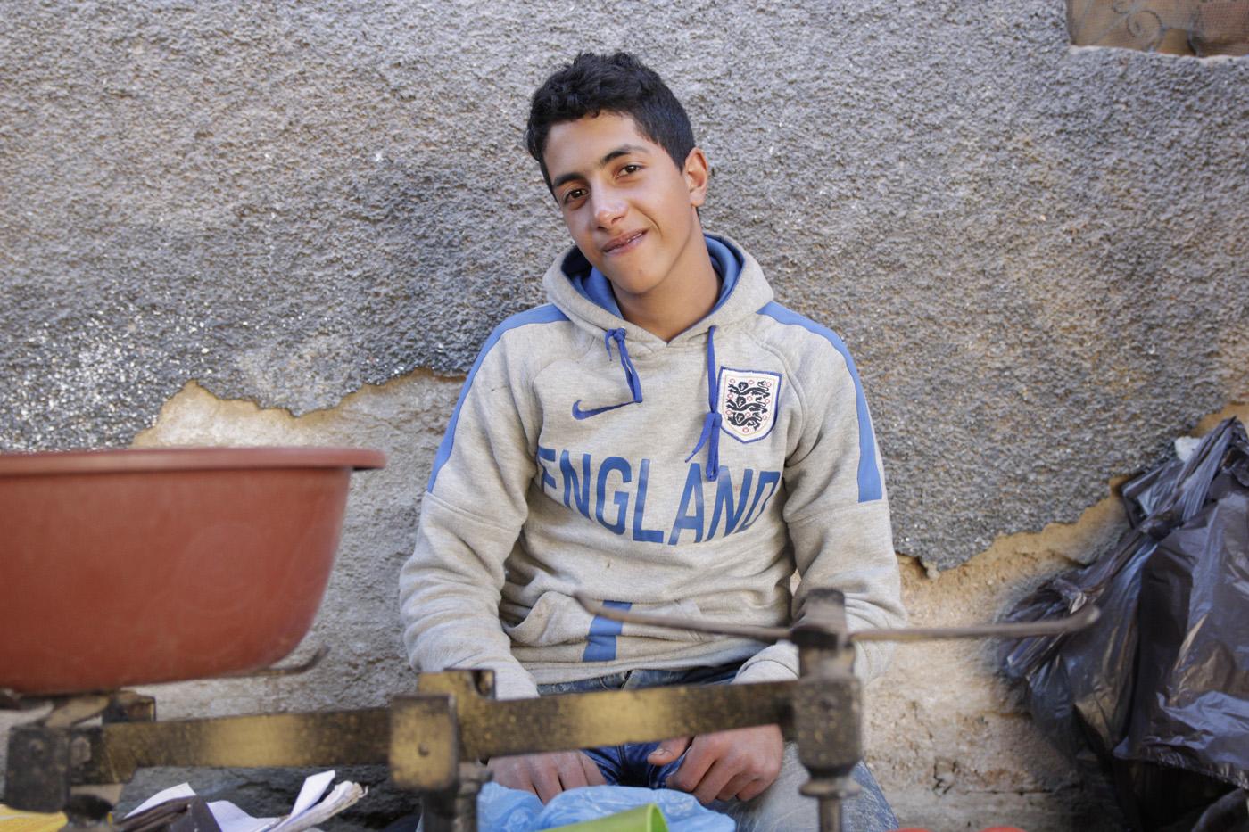 Portraits Händler Marokko